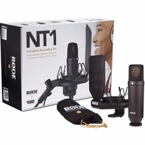 Kit Microfono Condenser Rode Nt1 Kit Funda Antipop Araña