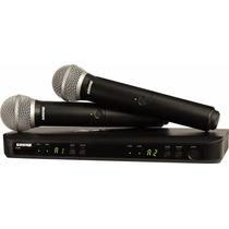 Shure Blx288 Pg58 Microfono Inalambrico Doble 2 Mano Uhf