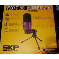 Micrófono De Estudio Skp / Podcast / Karaoke / Locución Pc