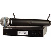 Microfono Inalambrico Digital De Mano Shure Blx24r / Beta58