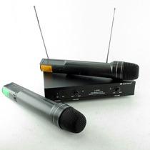 Microfono Inalambrico Doble De Mano Vhf 50 Metros Lx707 Htec