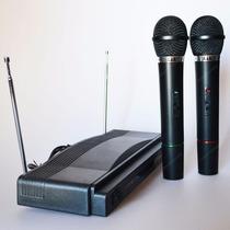 Set De Micrófonos Doble Inalambrico Profesional
