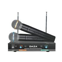 Dos Microfonos De Mano Inalambricos Daza Led Mav3338m 9v