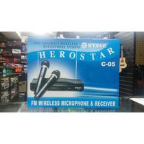 Microfono Inalambrico Doble Vhf Fm Herostar (c-05) Wvngr