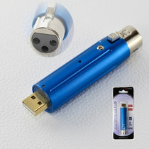 Adaptador Microfono Audio Xlr Canon A Usb Pc Notebook Digita