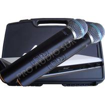Microfono Inalambrico Apogee U2 Doble De Mano Uhf Dual Pro