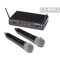Microfono Inalambrico Uhf Doble De Mano Samson - La Roca -