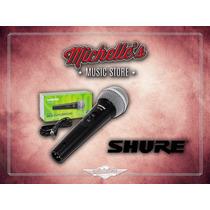 Micrófono Shure Sv100 Vocal Dinámico Con Cable Incluido