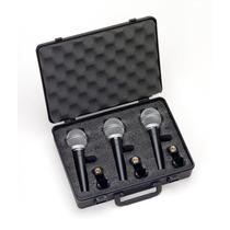 Pack 3 Microfonos Samson R21 Cardioides + Estuche Y Pipetas