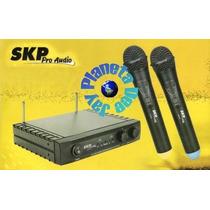 Microfonos Inalambricos Skp Uhf261 Doble De Mano Nuevos