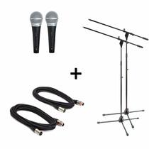 Combo 2 Microfonos Pro Shure Pg48 + Pipeta + Soporte + Cable