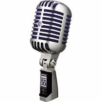 Micrófono Shure Super 55 Dinámico Vintage Clásico Azul Metal