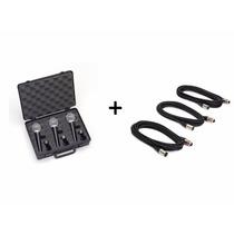 Combo Micrófonos Samson R21 X 3 + Estuche + Pipetas + Cables