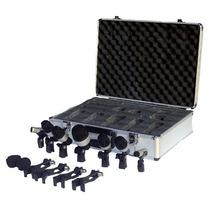 Set 7 Microfonos Bateria + Clamp + Valija Leem Dm7s La Roca