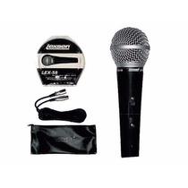 Microfono Lexsen 58 Tipo Sm 58 Con Funda Y Cable