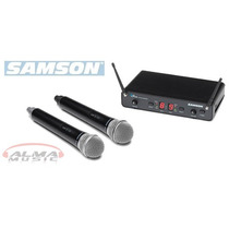 Microfono Samson Inalambrico Uhf Doble De Mano - Alma Store
