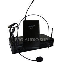 Microfono Inalambrico Lexsen Vincha Headset Uhf One In Two