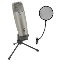 Microfono Condenser Samson C01 Usb Pro + Anti Pop - La Roca