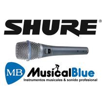 Microfono Shure Condenser Supercard De Mano P/ Voces Beta87a