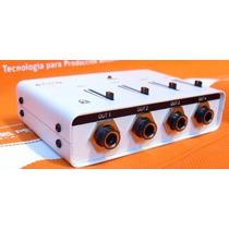 Amplificador Divisor De Auriculares Hsr Ear 4 Salidas Fader