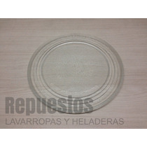 Plato De Vidrio Para Microondas 27 Cm Diámetro Liso