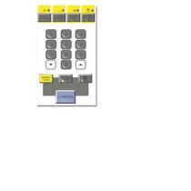 Teclado Frente Membrana Microonda Bgh P74-2374 / 25850-2374