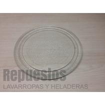 Plato De Vidrio Para Microondas 24.5 Cm De Diametro Liso