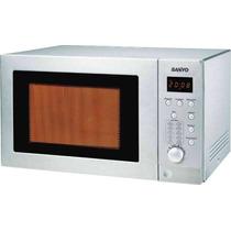 Microondas Sanyo 28l Con Grill 900w Acero Inoxidable