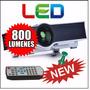 Mini Proyector Led 800 Lumens Hdmi Usb 1080p + 4 Lentes 3d