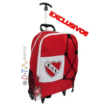 Independiente- Mochila Carrito Oficial 17 Pulgadas Caballito