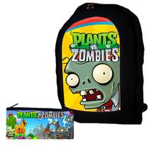 Combo Mochila + Cartuchera Plantas Vs Zombies