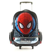Mochila Con Carro Spiderman Licencia Original 17