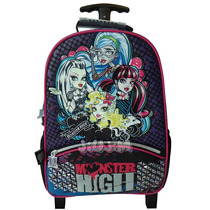 Mochila Carro Grande 16 Infantil Escolar Monster High Jiujim