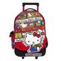 Mochila Hello Kitty Carrito Grande 17 Pulg Varios Bolsillos