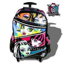 Mochila Monster High Carro18 Nuevos Modelos Licen Original