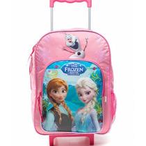Mochila Carro Grande 16 Escolar Frozen Lic. Original Disney
