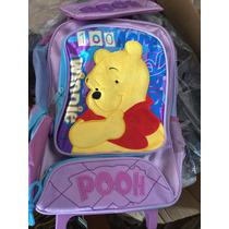 Mochila Escolar Winnie The Pooh Con Carrito