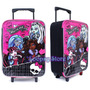 Mochila Valija Carrito Monster High + Lunchera + Set Escolar