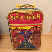 Mochila Carrito Con Ruedas Superman Superheroes Usada