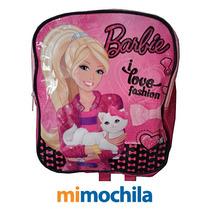 Mochila Barbie Pequeña -ideal Para Jardín -original!!