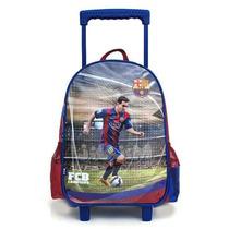 Mochila Escolar Carrito 17 Original Barcelona Messi Jiujim