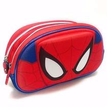 Cartuchera 2 Cierres 3d Spiderman Original - Mundo Team