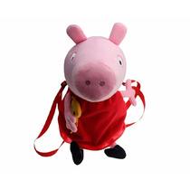 Peppa Pig Muñeca Peluche Mochila Grande Famosa De Tv Bolso