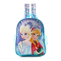 Mochila Escolar Frozen Celeste 12 Pulgadas Disney