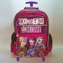 Mochila Monster High Con Carro 18 Pulgadas Dm536