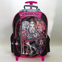 Mochila Monster High Con Carro 18 Pulgadas Dm538