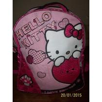 Mochila Colegial Para Jardin Hello Kitty Original