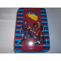 Barcelona- Messi- Cartuchera 1 Piso De Lata! Escolar-mirala!