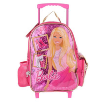 Mochila Barbie Carro Grande 16 Original Mattel