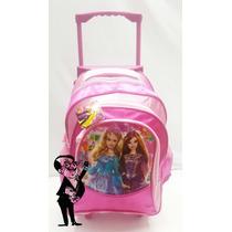 Mochila Carrito Nena Chica Barbie Frozen Monster Pepa